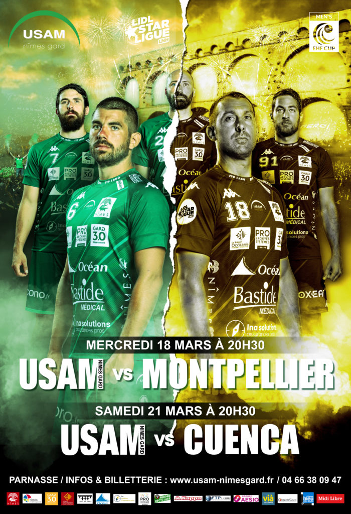 Affiche de match - Usam Nîmes Gard - Agence de communication Image Huit