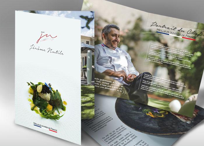 Plaquette Jérôme Nutile Restaurant Gastronomique étoilé - Agence de communication à Nîmes Image Huit